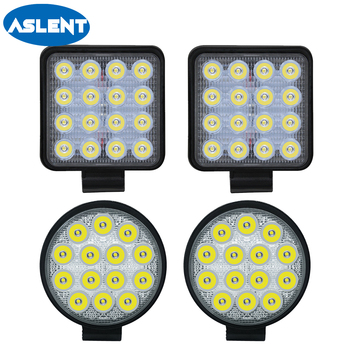 Aslent 4 inch 12v 24v 27W 42W 48W 4800lm Round Led Work Light Bar Spot beam Headlight For 4WD 4×4 Offroad SUV ATV Tractor Truck