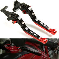 High Quality CNC Motorcycle Motorbike Accessories Handlebar Grips Adjustable Folding Brake Clutch Levers For YAMAHA TW125 TW 125