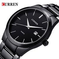 CURREN Luxury Brand Full Stainless Steel Analog Display Date Men S Quartz Watch Business Watch Men