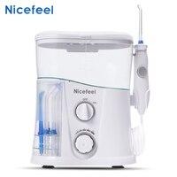 Nicefeel Dental Flosser Water Jet Oral Irrigator 1000ml Dental Irrigator Oral Hygiene Care Oral Flossing Teeth