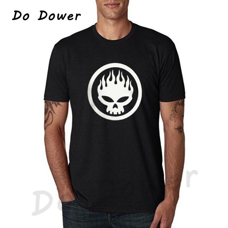 2018 Printed T Shirts Online O-Neck New Popular The Offspring Skull Rock Band Black Size XS-3XL Men Short Sleeve Print Tee