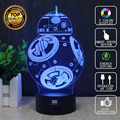 Star Wars Lamp New BB-8 3D Lamp Millennium Falcon LED Novelty Night Lights USB Light Glowing Children's Gift HUI YUAN Brand
