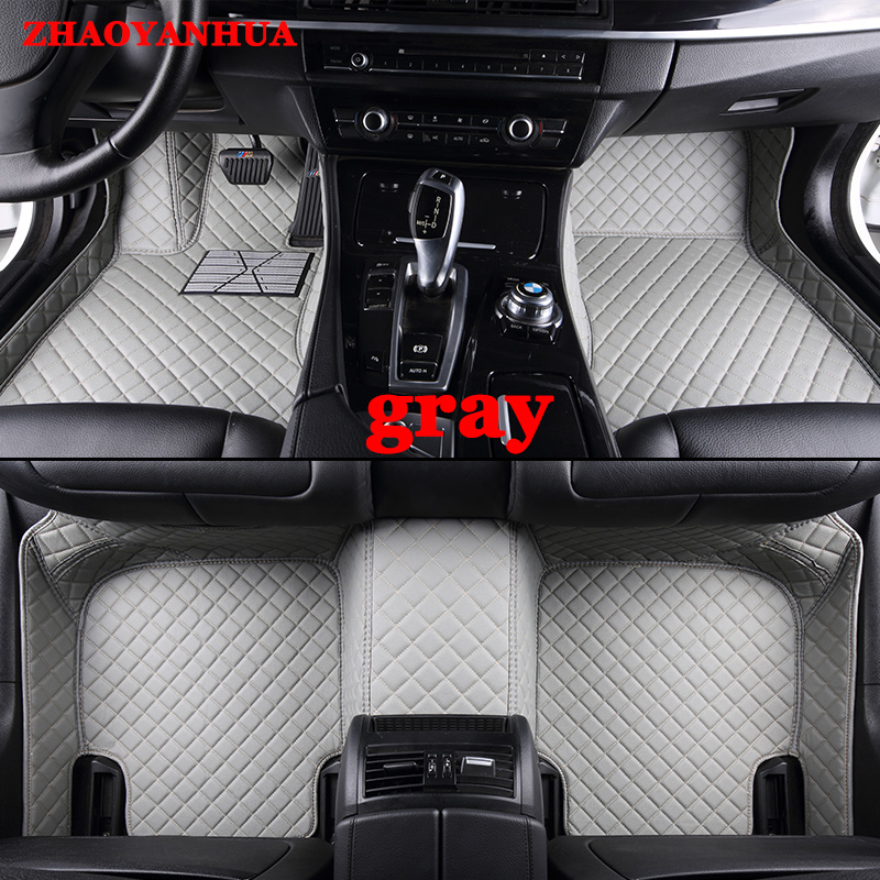 ZHAOYANHUA Custom car floor mats Case for Buick Enclave Encore LaCrosse Regal Excelle GT XT leather Anti slip carpet liner