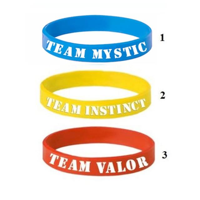 innovative design b9e70 5c13e 3 Colori Pokemon GO Braccialetto Per I Bambini Squadra Valor Instinct  Mystic Logo Wristband Del Silicone Bracciali Sport Per Ragazze Del Ragazzo  ...