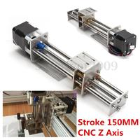 Funssor 50mm 150mm Slide Stroke CNC Z Axis Slide Linear Motion NEMA17 Stepper Motor For Engraving