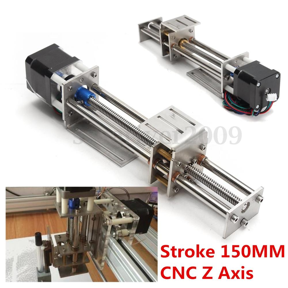 Funssor 50mm/150mm Slide Stroke CNC Z Axis slide Linear Motion +NEMA17 Stepper Motor For Reprap Engraving Machine funssor 50mm 150mm slide stroke cnc z axis slide linear motion nema17 stepper motor for reprap engraving machine