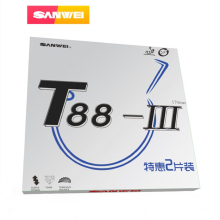 цена 10pcs SANWEI Table Tennis Rubber T88-III (T88-3) Half sticky loop with sponge pimples in ping pong rubber tenis de mesa