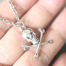 Skull Pendant Necklace For Women Christmas Gifts Vintage Silver Necklaces Bijoux Collier Jewelry