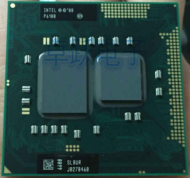 Originale CPU INTEL P6100 SLBUR 2.0G/1 M 100% HM55 PM55 QM55 chip originale IC processore per notebook