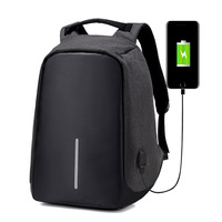 Nylon Men S Anti Theft Backpack Bag USB Charge 15 Inch Laptop Notebook Backpack For Men