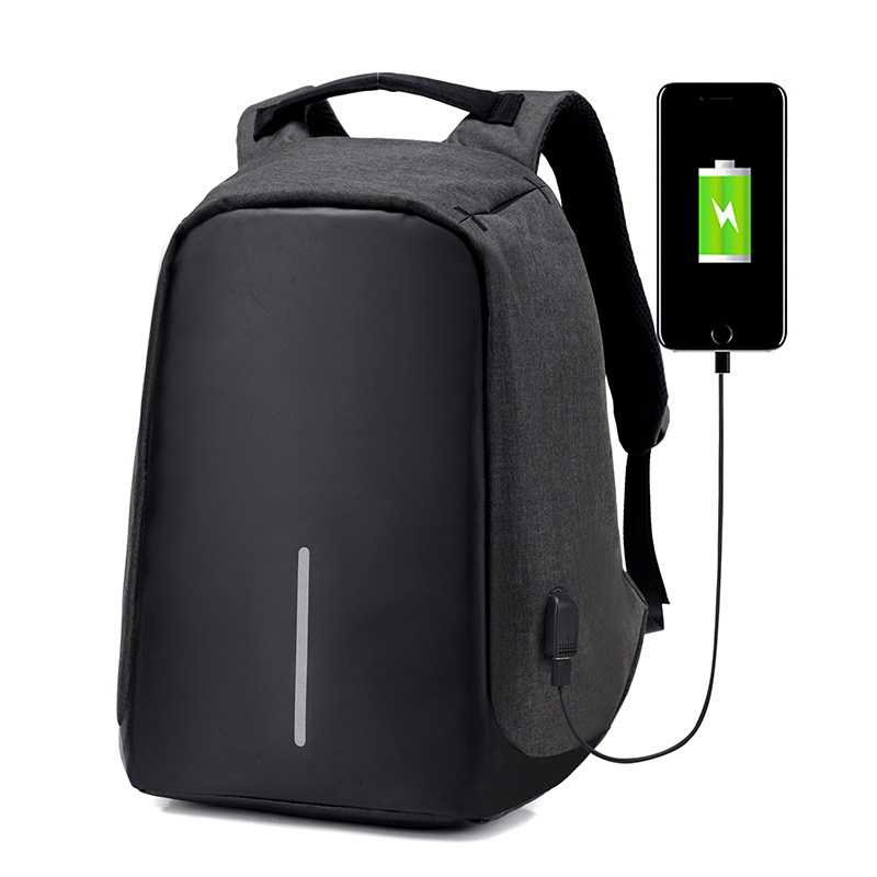 Nylon Men's Anti Theft Backpack Bag USB Charge 15 Inch Laptop Notebook Backpack For Men Waterproof Travel Back Pack Bag Mochilas