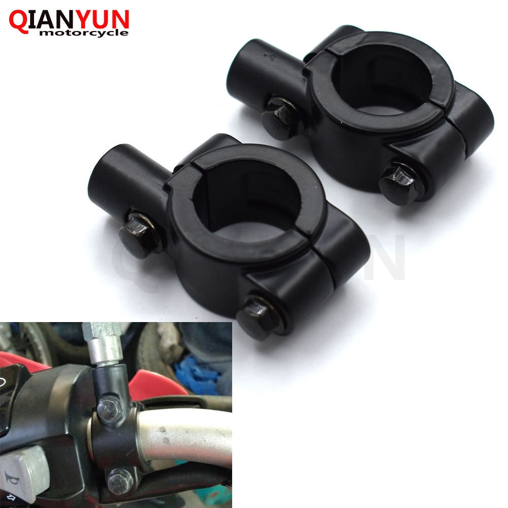 1Pcs Motorcycle Bike Handlebar Rearview Mirrors Holder Mount Clamp Adapter New