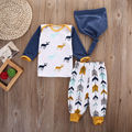 2016 Autumn New baby boy clothing set fashion long-sleeved Deer T-shirt+ Arrow Pants+Hat 3pcs newborn baby boy clothes set