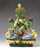 11.5 cm * / Buddhism Chines Crystal Glass Liuli Coloured crystal Buddha statue