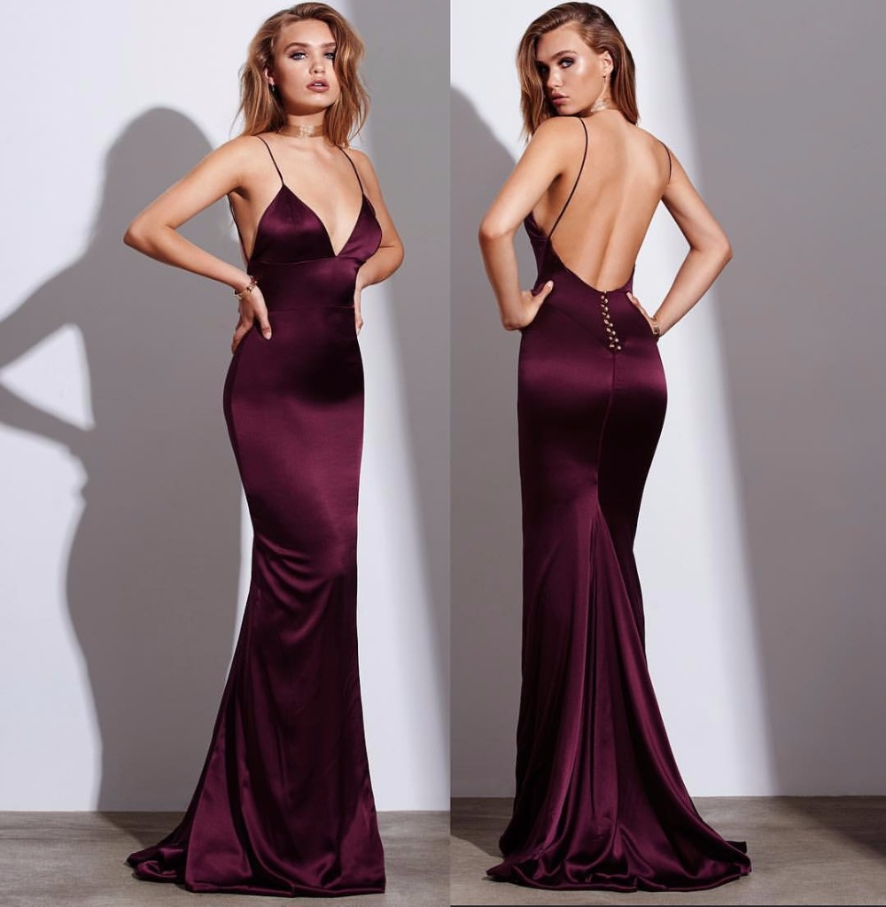 michael korns vestido social Fashionable Elegant long mermaid Evening Dress 2017 new hot sexy backless Party Prom Dresses