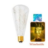 E27 Rocznika Projekt Bajki Ciąg Światła LED Żarówki 3 W Żarnik Diodowa Na Dekoracje Świąteczne Wedding oświetlenie 110 V/220 V