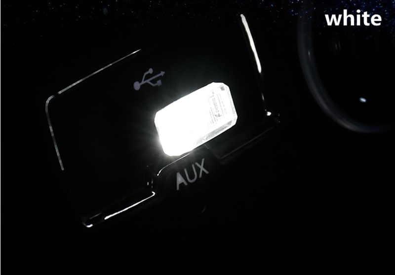 سيارة التصميم USB مصباح للزينة الإضاءة LED جو أضواء لفولكس واجن VW Golf 4 6 7 GTI تيغوان باسات B5 B6 b7 CC
