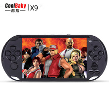 "New 8GB 5.0"" Large Screen Handheld Game Consoles Built-in 300 Classic Games With MP3/ Movie Camera Adult Vedio Games Console(China)"