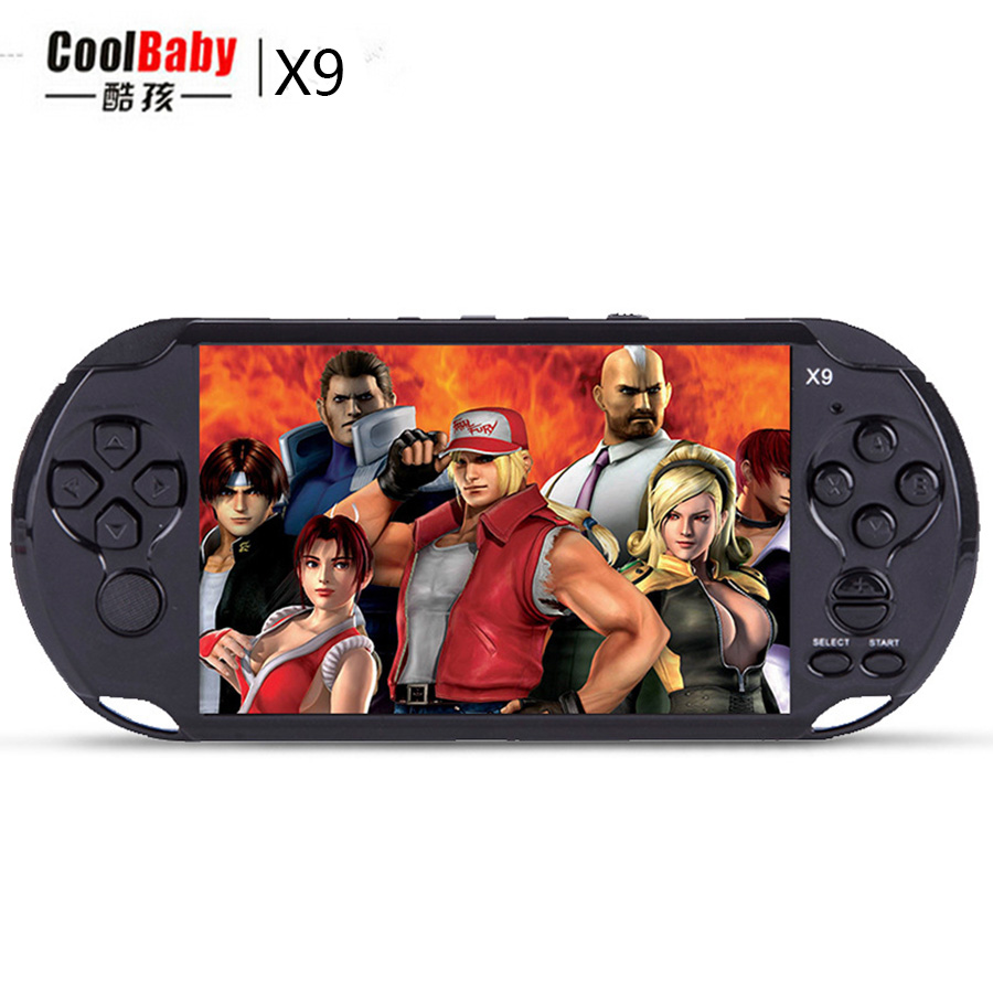 New 8GB 5.0 Large Screen Handheld Game Consoles Built-in 300 Classic Games With MP3/ Movie Camera Adult Vedio Games Console sanwa button and joystick use in video game console with multi games 520 in 1