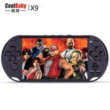 """Nuevo 8 GB 5.0 """"gran Pantalla de Consolas de juegos portátiles Incorporados 300 Juegos Clásicos Con MP3/Vedio Cámara de Cine Para Adultos Juegos de Consola"""