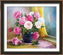 Զամբյուղ ծաղիկների ադամանդի ներկերի - Արվեստ, արհեստ և կարի - Լուսանկար 2