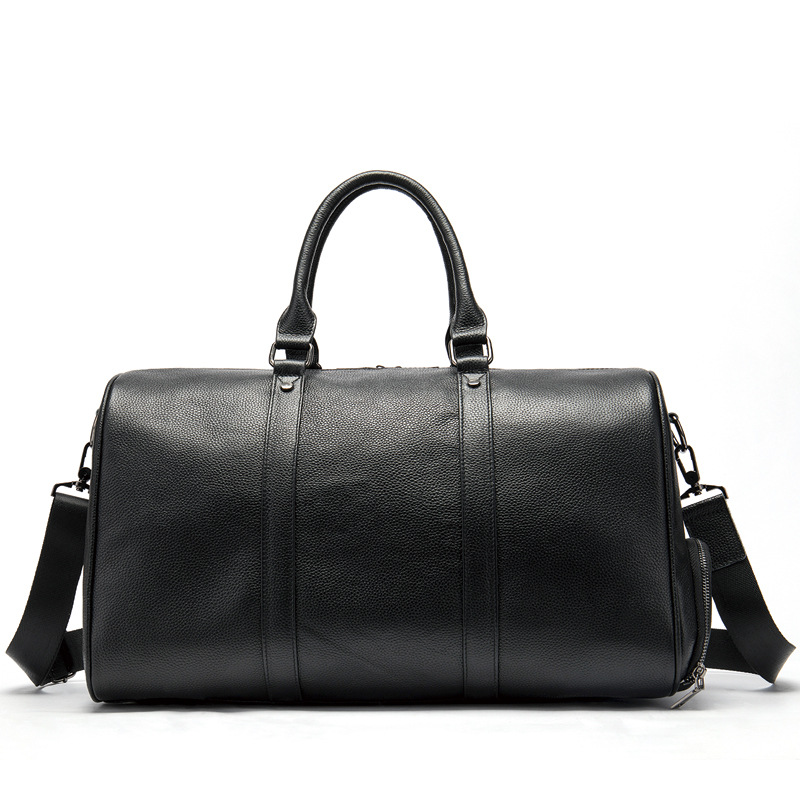 Big Large Genuine Leather Handbag Men Travel Bags Overnight Duffel Bag Weekend Travel Huge Tote Bags Crossbody Travel Bags