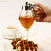 OUSSIRRO 200ML Honey Dispenser Jar Container Cup Portable Acrylic Storage Pot Juice Bee Drip Bottle Cooking Tool Craft