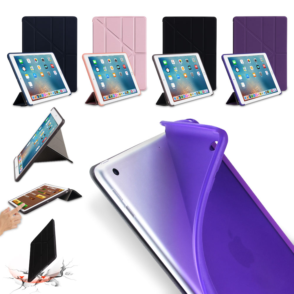 Case for ipad air 1 tpu Back Cover for apple ipad 5 Flip Stand pu Leather Soft Case Smart Wake Up Sleep for iPad 9.7 2017 2018