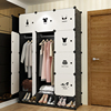 storage furniture When the quarter wardrobe DIY Non-woven fold Portable Storage Cabinet bedroom furniture wardrobe bedroom organ 3
