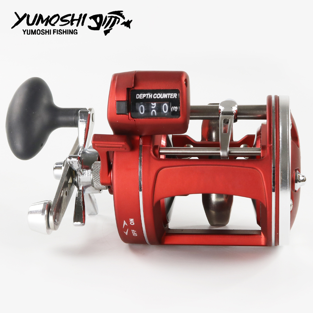 Right Left Hand 12 Ball Bearings Fishing Reel Boat Reel With Electric Power Line Counting Multiplier