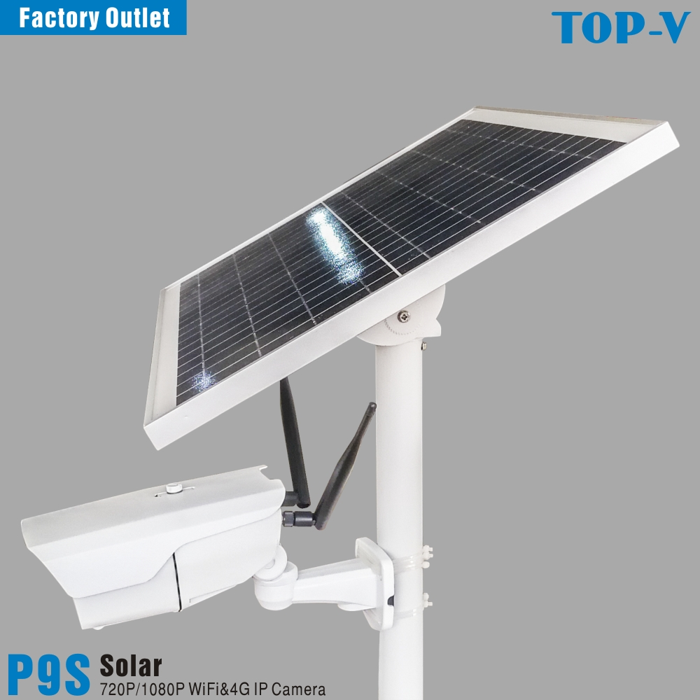 1080P HD Solar Powered 4G Wi-Fi Solar Camera With Built-in Large Capacity Lithium Battery And 25W Solar Panel, P9s-25W