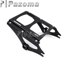 Black Motorcycle Detachable Two Up Tour Pack Mounting Luggage Rack Moto Parts for Harley Touring FLHR FLHT FLHX FLTR 2009-2013