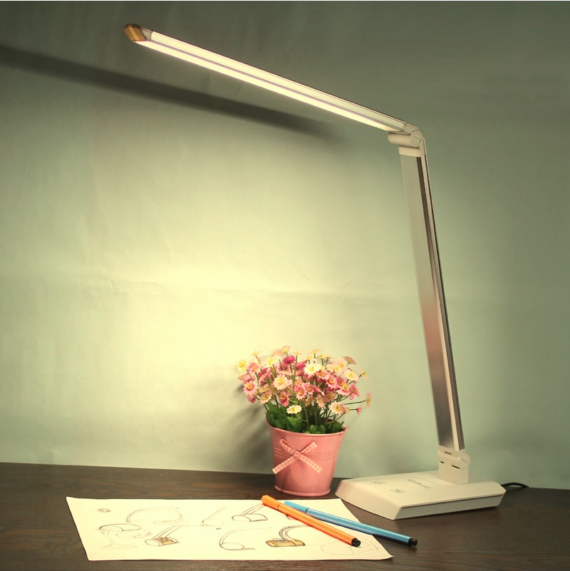12W Simple Design Rotary Study Lamp, Dimmable LED with Aluminum Body, Turnable Color Temperature