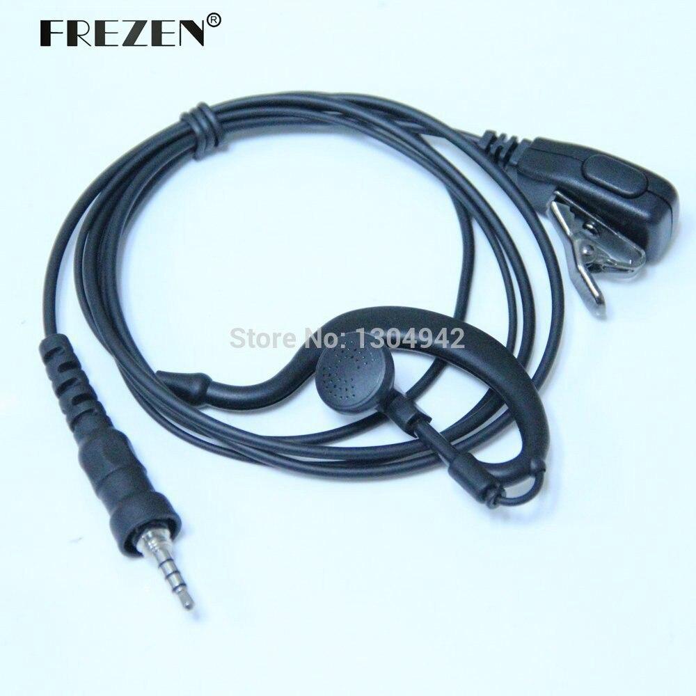 bilder für G Form Polizei Hörer Headset mit Mikrofon für Yaesu Vertex Radio VX-6R 7R 6E 7E 120 127 170 177