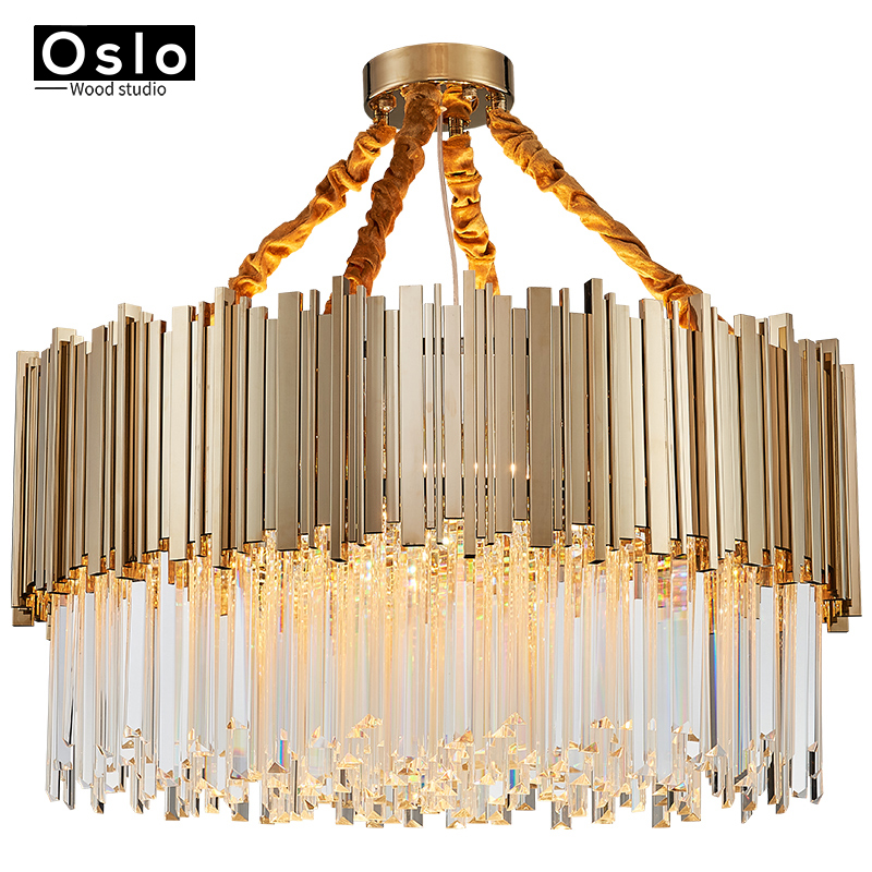 Us 362 1 49 Off Luxury Crystal Pendant Light Gold Lighting Fixtures Ers Luminaire For Dining Room Living Restaurant In