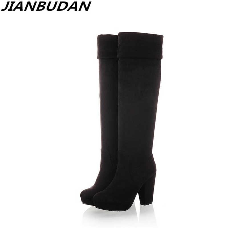 fcb3fb2e7 JIANBUDAN/фирменный дизайн, высокое качество, пикантные женские зимние  сапоги, новинка 2019,