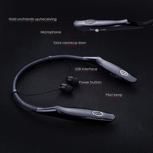 Image 2 - Sport Bluetooth Earphone Wireless Stereo 14 Hr Bluetooth Headset Music Headphone Handsfree neckband Earbuds For xiaomi iphone 7