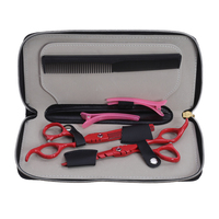 Professional Hair Scissors Set 5 5 Inch Cutting Thinning Scissors With Leather Bag Hairdresser S Scisors