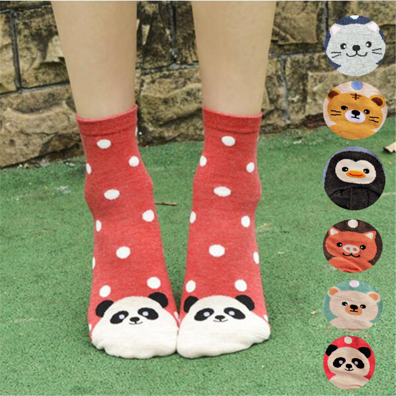 New hot-sell   socks   women funny autumn-winter colorful cartoon cute   sock   ladies and women's crazy animal cotton   socks
