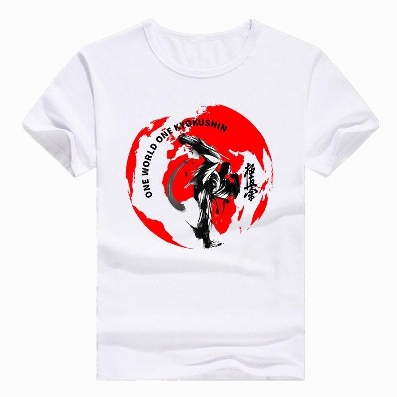 Asian Size Print Kyokushin Karate Kanji and Symbol   T  -  shirt   Short sleeve Summer Casual O-Neck   T     shirt   Men Women HCP699