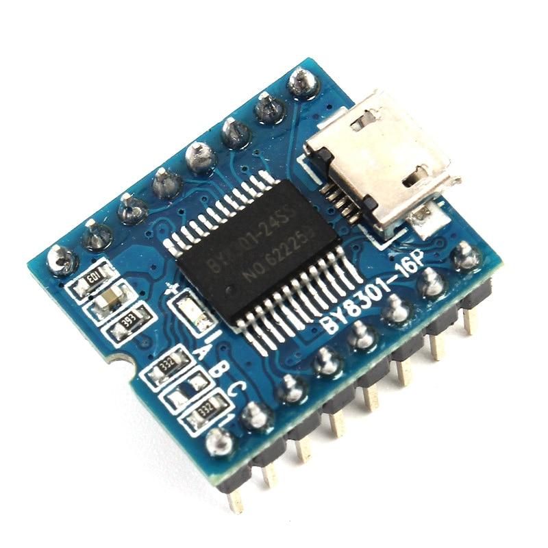 MP3-плееры Модуль mini MP3-плееры аудио голосовой модуль доска by8301-16p 32 Мбит 4 Мбайт Поддержка USB скачать ...