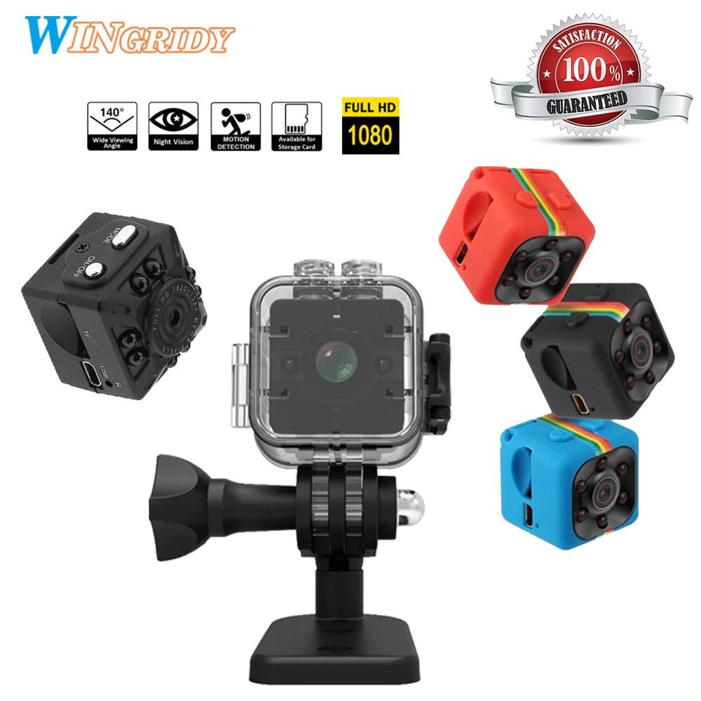 SQ11 Mini macchina fotografica SQ12 SQ10 Impermeabile gradi dell'obiettivo grandangolare HD 1080 P Grandangolare SQ 12 MINI Videocamera Portatile DVR SQ 11 Sport video cam