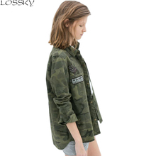 Ms. GCAROL new camouflage shirt asymmetrical long-sleeved jacket military