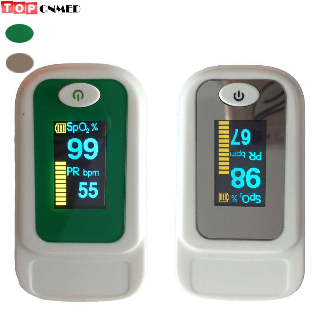 Back To Search Resultsmother & Kids bag/case Optional Grade Products According To Quality Pulse Oximeter Oximetro De Pulso Spo2 Pr Blood Oxygen Monitor Oled Alarm Beep Sound Green/gray Color