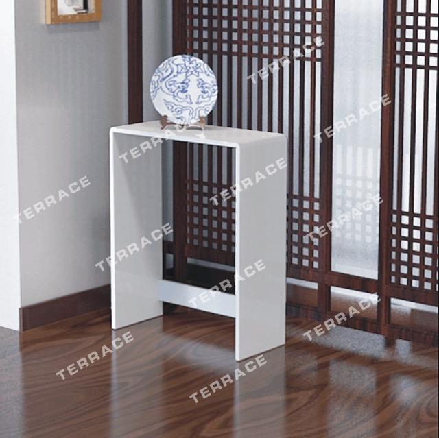 Acrílico Estilo moderno mesa de corredor estreito, plexiglass lucite pedestal mesa de console
