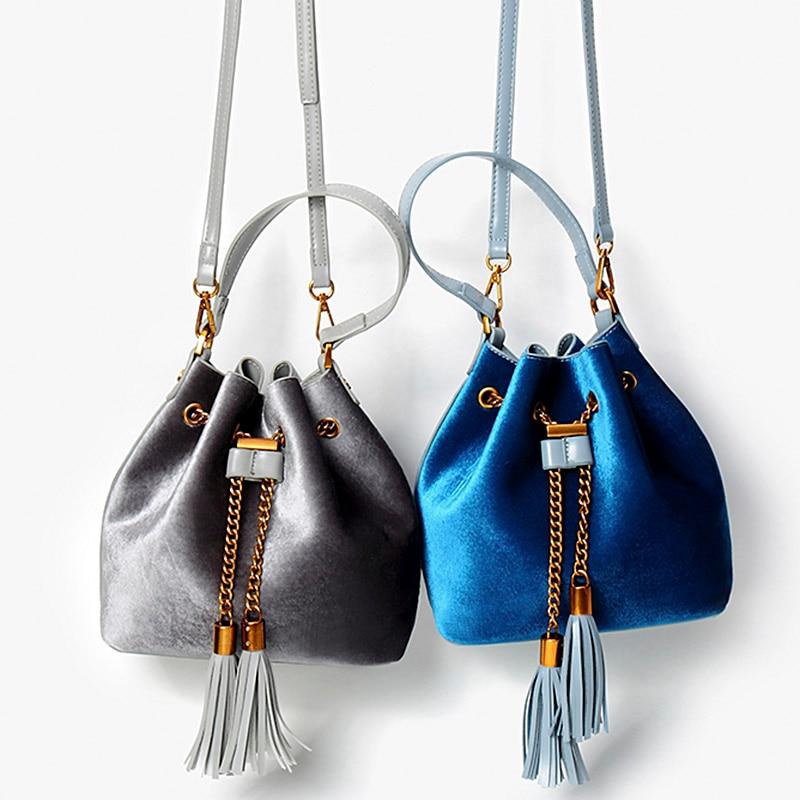 Antbook New Arrive!Women Handbags Brand Design High Quality Bucket Bags Ladies Chain Tassel Women Shoulder Messenger Bag Bolas