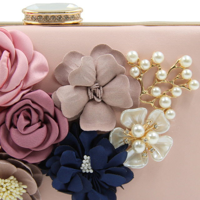 Milisente Women Clutch Lady Flower Day Clutches Female Wedding Purses Flower Bag