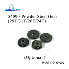 RC CAR SPARE PARTS POWDER STEEL GEAR 4X SET 24T 26T 29T 31T FOR HSP BLUE ROCKET ON ROAD CAR 94052 (part no. 54090)