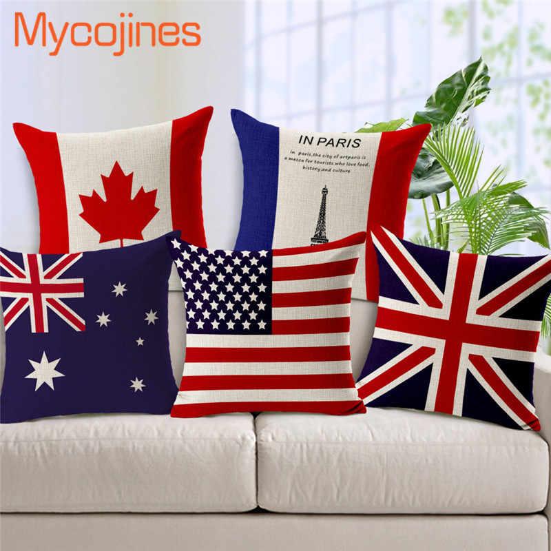 Europ Countries 15styles National Flag Throw Pillow Case Usa Uk Spain France Russia Decorative Cushioncover Linen Cotton Pillows Throw Pillow Cases Pillows Case Pillowdecorative Country Pillows Aliexpress