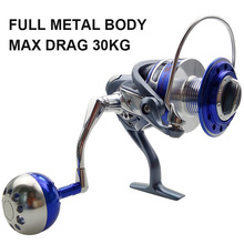 Hyaena 13BB Ball Bearings Full Metal Body Fishing Reels Aluminum Alloy Saltwater Fishing Spinning Reel Size MX4000-7000